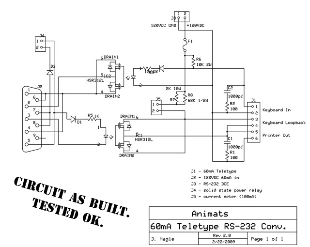 Schematic of interface device