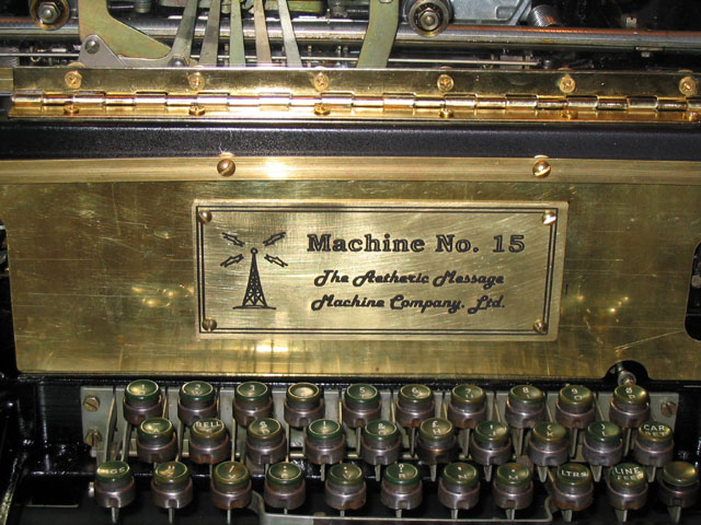 Message machine nameplate