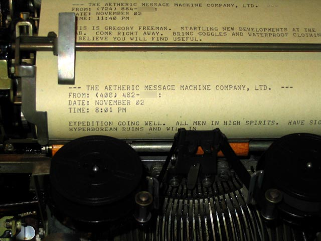 Steampunk msg being typed